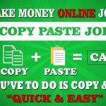 Copy Paste Jobs Online India